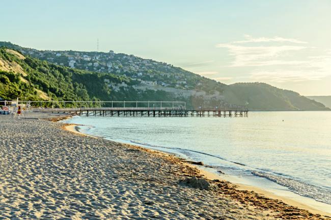 Playa de Albenia, mar Negro, Bulgaria
