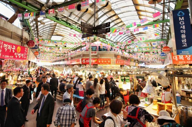 Mercado de Gwangjang, Corea del Sur