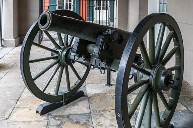 Museo de historia en Jackson Square, Nueva Orleans, costa este de EEUU