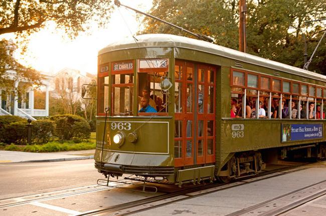 Típico tranvía de Nueva Orleans, costa este de EEUU