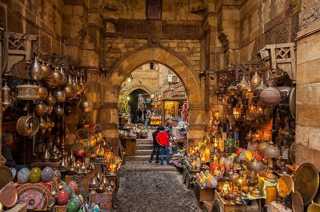 Típico mercado egipcio, Egipto