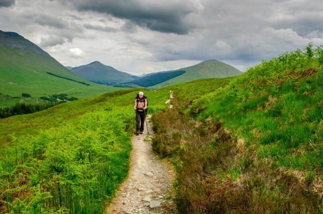 Senderismo porla West Highland Way, Escocia