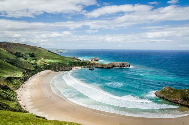 Playa de Torimbia, Asturias, España