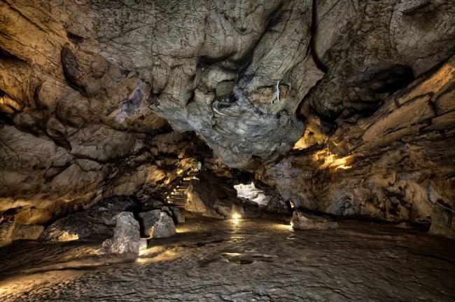 El Castillo, cuevas de Monte Castillo, Cantabria, España