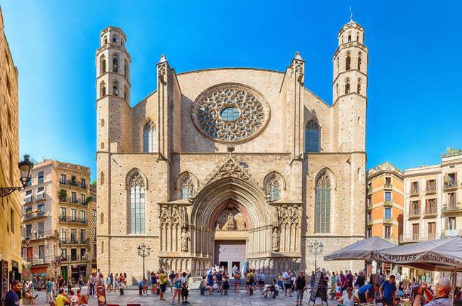 Basílica de Santa Maria del Mar, Barcelona, Cataluña, España