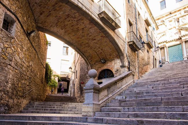 Call Jueu, el barrio judío de Girona, Cataluña, España