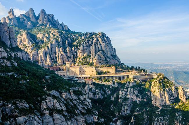 Macizo y monasterio de Montserrat, Cataluña, España