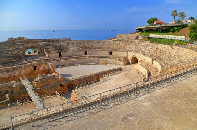 Anfiteatro romano, Tarragona, Cataluña, España