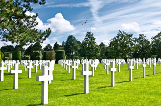 Cementerio estadounidense de Omaha Beach.
