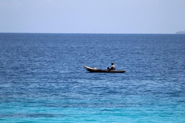 Pescador en Kabic, Haití