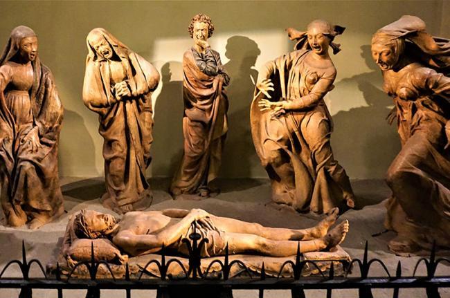 Lamentación sobre Cristo muerto, Santa Maria della Vita, Bolonia, Italia