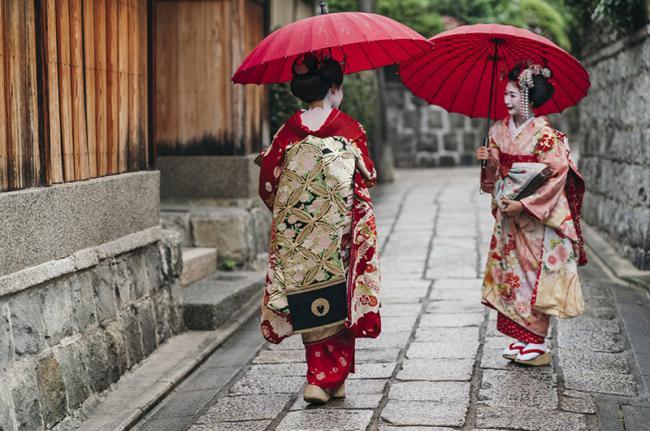 'Geishas', Gion, Kioto, Japón