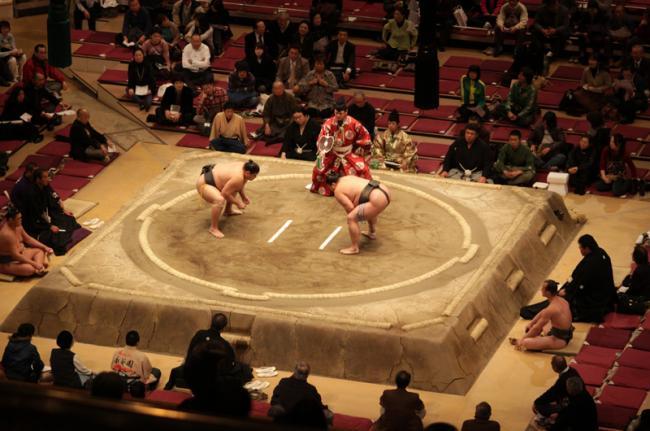 Sumo en Ryōgoku, Tokio, Japón