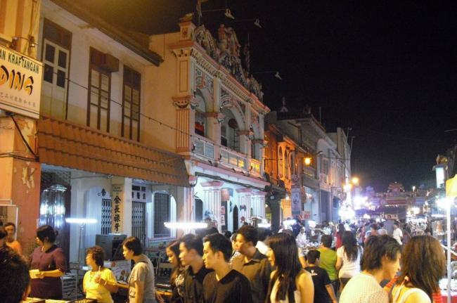 Mercado nocturno de Jonker, Malaca, Malasia