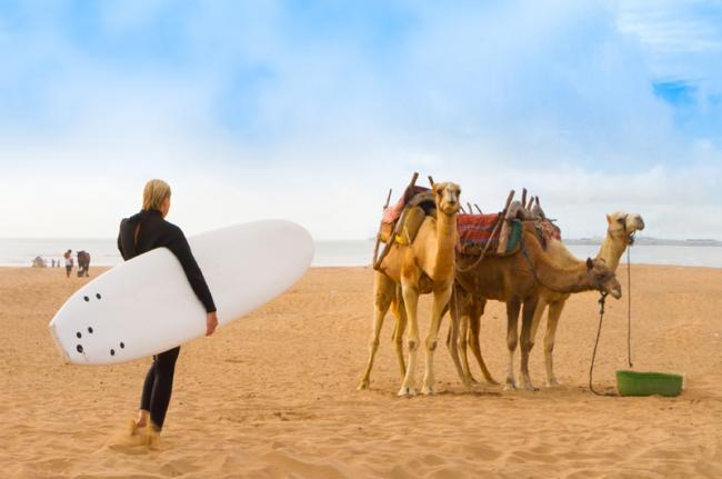 Surf en Esauira, Marruecos