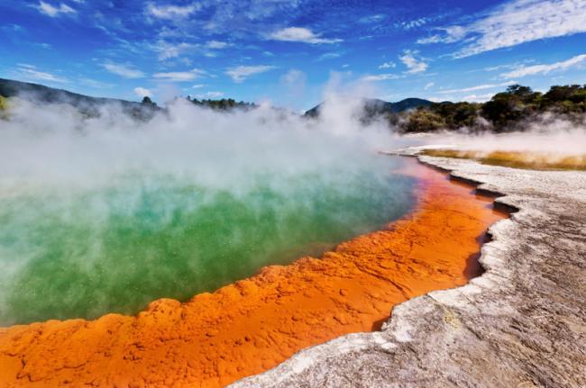 Champagne Pool, Rotorua, Nueva Zelanda