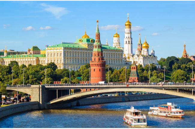 El Kremlin y el río Moscova, Moscú, Rusia