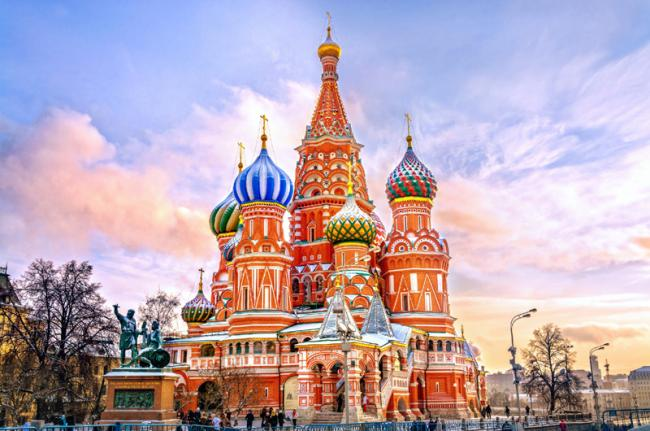 Plaza Roja y catedral de San Basilio, Moscú, Rusia