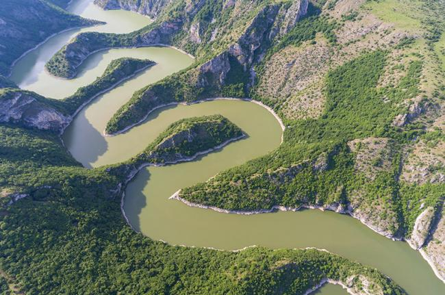Cañón del río Uvac, Serbia