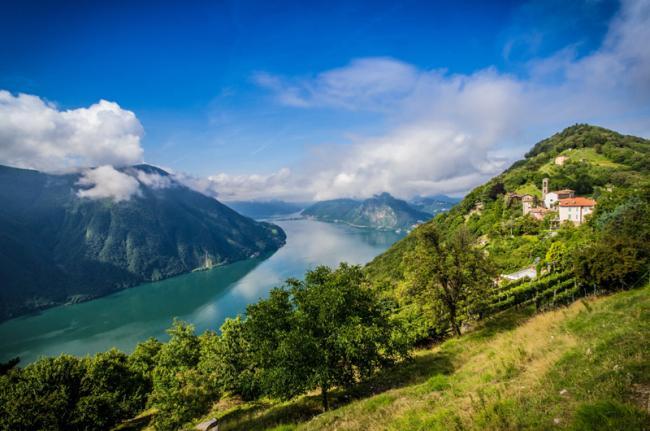 Lago de Lugano, Suiza