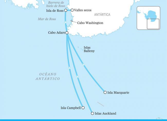 El mar de Ross, Antártida