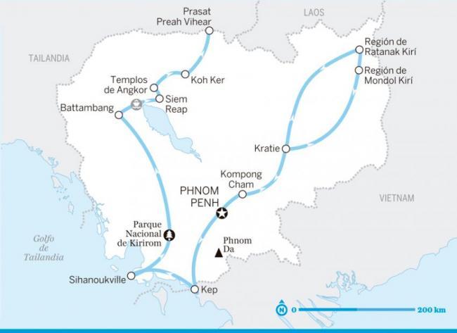 Itinerario Historia de dos ciudades, Camboya