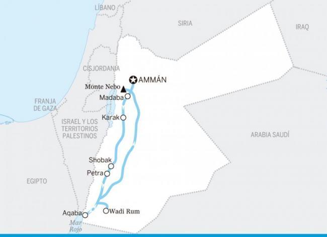 De Ammán a Aqaba, Jordania