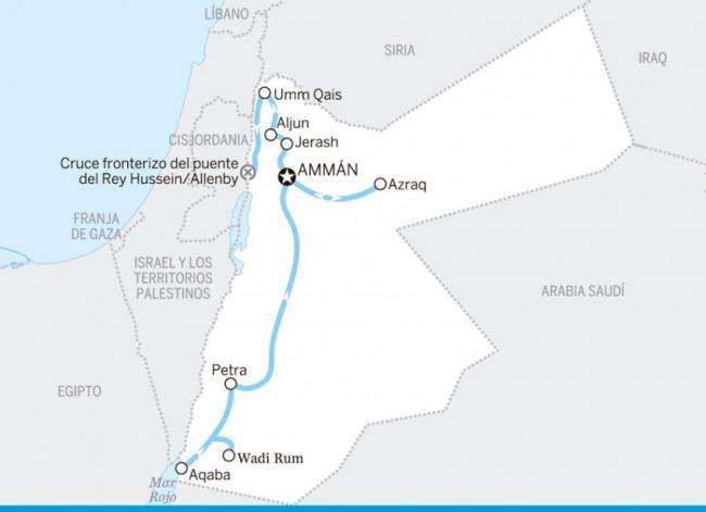 De frontera a frontera, Jordania