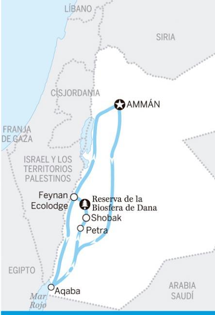 Desvío a Petra, Jordania