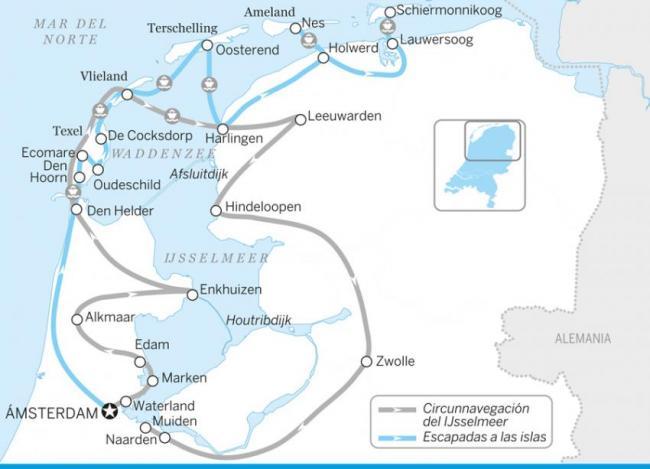 Circunnavegación del IJsselmeer, Países Bajos