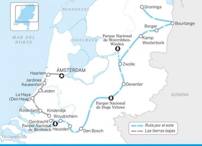 Ruta por el este, Países Bajos
