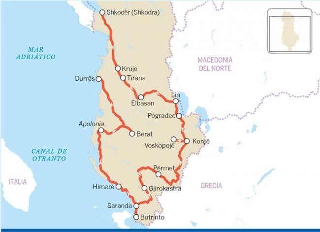 Ruta por Albania