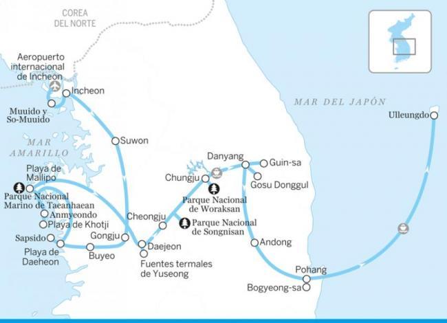 Desde el oeste hasta el mar del Japón