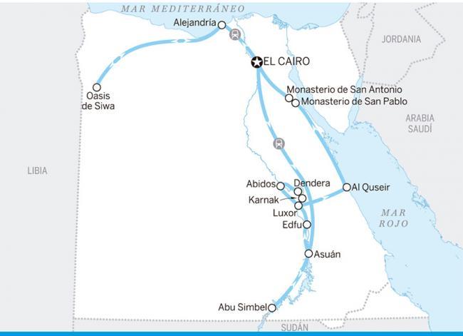 Itinerario Egipto de arriba abajo