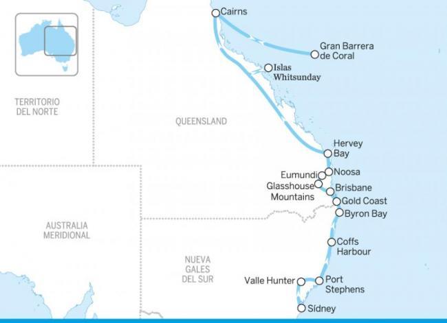 De Sídney a Cairns