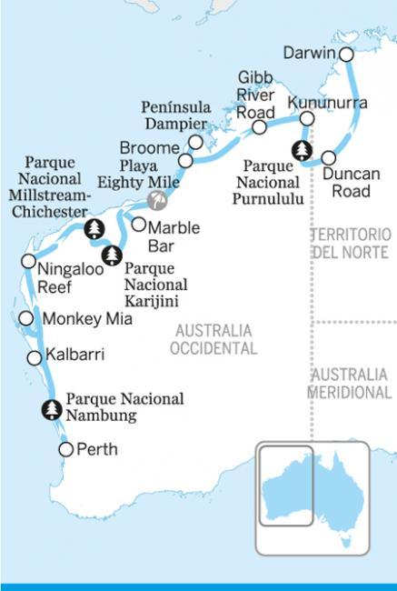 Perth, Pilbara y Kimberley