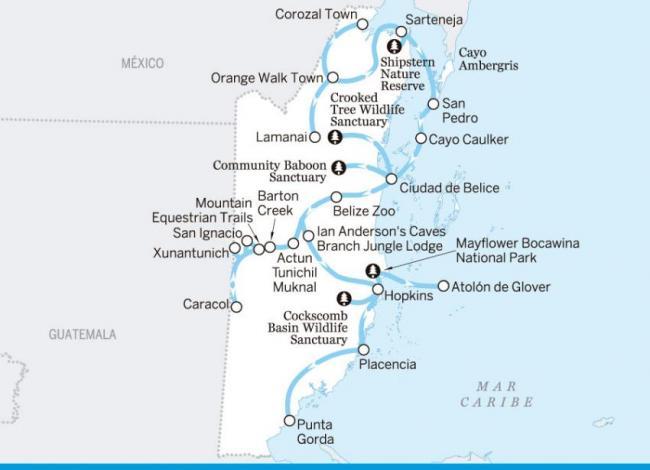 El lote completo: de Corozal a Punta Gorda