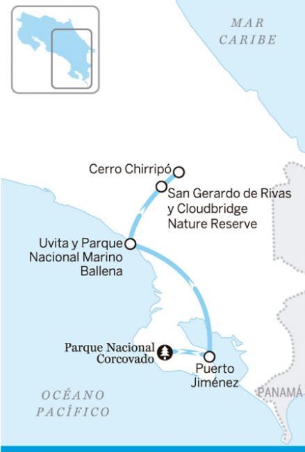 Sur de Costa Rica y Osa