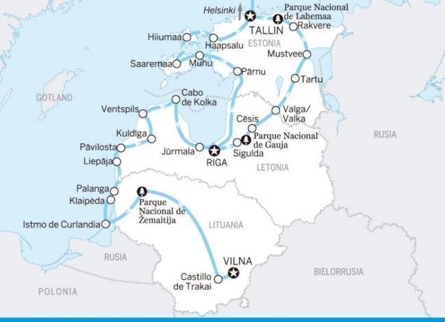El Gran Tour. Estonia, Letonia, Lituania
