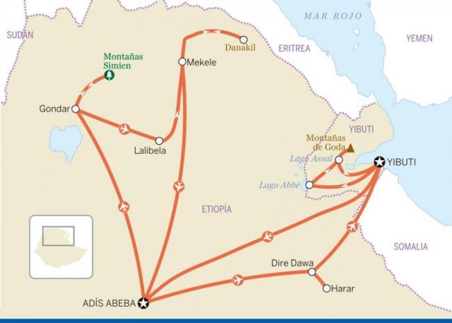 'Grand tour' por Etiopía y Yibuti