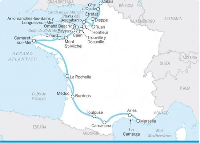 Del Atlántico al Mediterráneo
