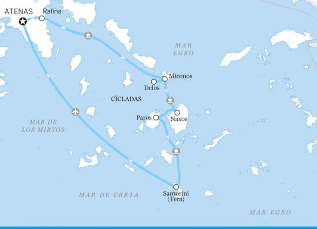 Itinerario por Atenas y las Cícladas