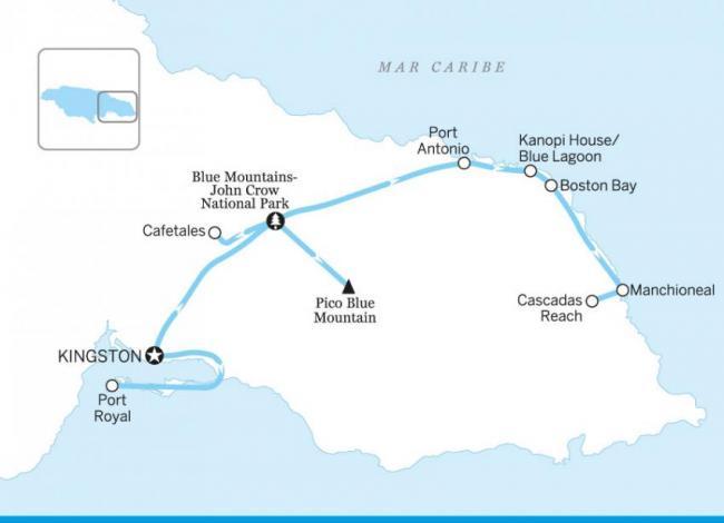 Itinerario por Kingston, Blue Mountains y Portland, Jamaica