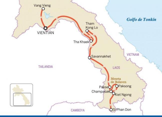 Centro y sur de Laos