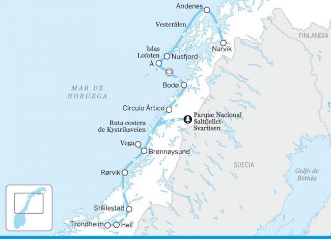 La costa noruega