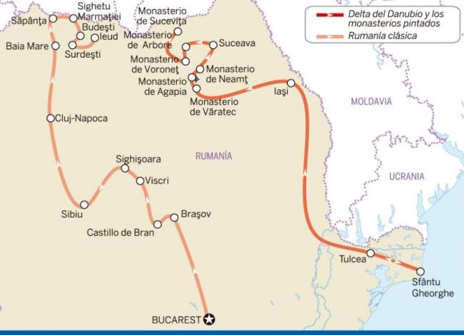 Delta del Danubio y los monasterios pintados