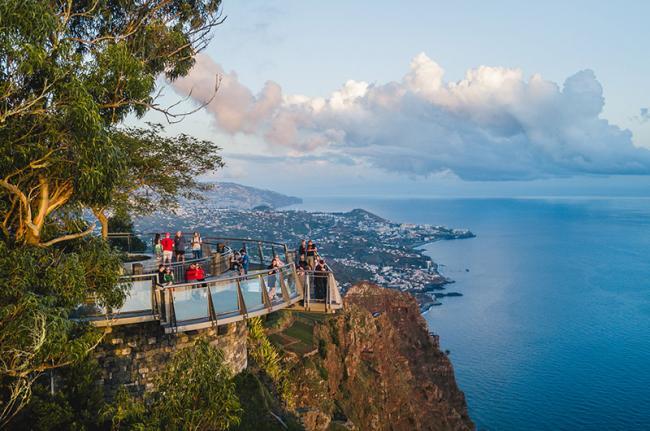Mirador de cabo Girăo, oeste de Madeira, Portugal