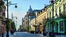 Łódź, ul Piotrkowska, la calle más larga de Polonia