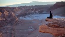 Sudamérica, Chile, Piedra del Coyote en San Pedro de Atacama