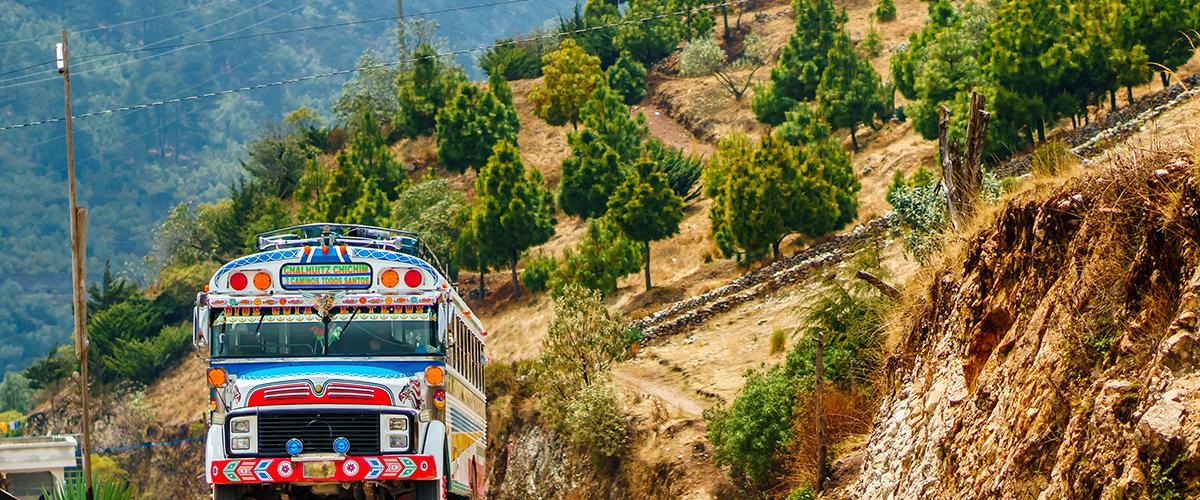 """""""Chicken bus"""" de Guatemala"""